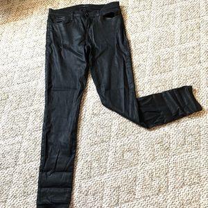 J Brand 620 black lacquer skinny jeans